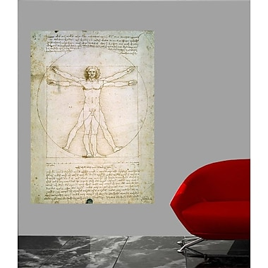 Winston Porter 'The Proportions of the Human Figure' by Da Vinci Graphic Art Print Poster