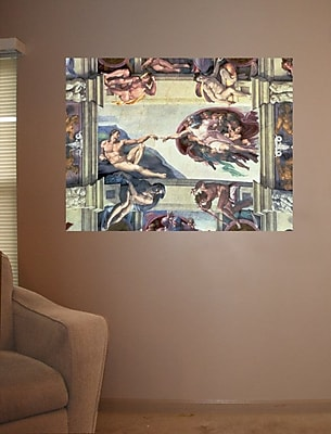 Winston Porter 'Creation of Adam' by Michelangelo Graphic Art Print Poster; 36.5'' H x 48'' W