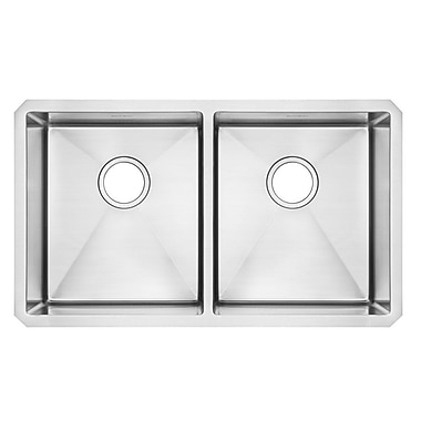 American Standard Pekoe 29'' x 18'' Double Basin Undermount Kitchen Sink w/ Grid and Drain