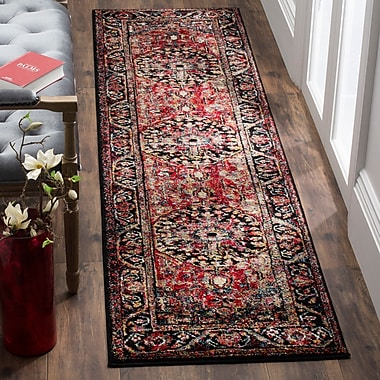 Bloomsbury Market Mccall Red Area Rug; Runner 2'2'' x 12'