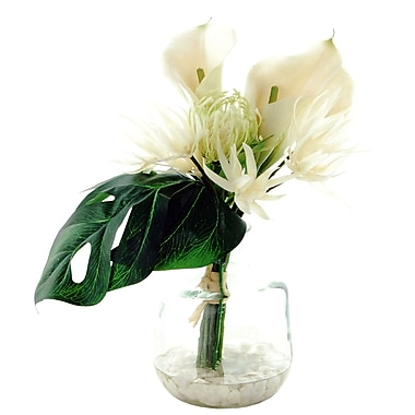 Bay Isle Home Lilly Floral Arrangement; White