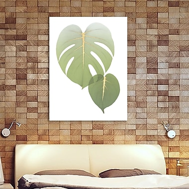 Bay Isle Home 'Golden Philodendron' Graphic Art Print on Wrapped Canvas; 32'' H x 24'' W