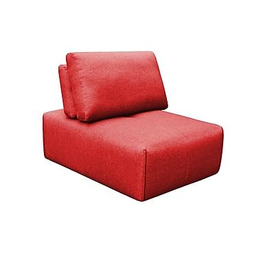 Brayden Studio Rembert Slipper Ottoman; Red