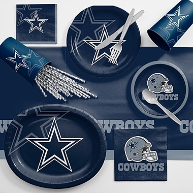 Creative Converting NFL Ultimate Fan Party Supplies 113 Piece Dinner Plate Set; Dallas Cowboys