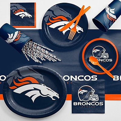 Creative Converting NFL Ultimate Fan Party Supplies 113 Piece Dinner Plate Set; Denver Broncos WYF078281998328