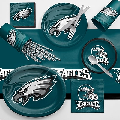 Creative Converting NFL Ultimate Fan Party Supplies 113 Piece Dinner Plate Set; Philadelphia Eagles WYF078281998337