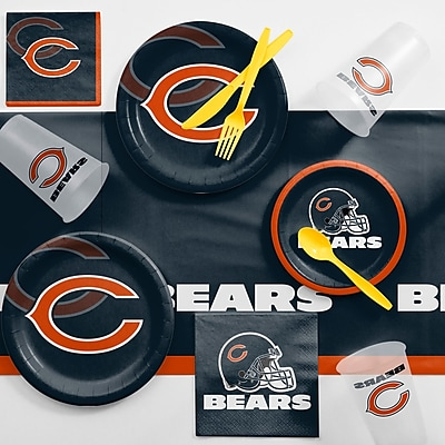Creative Converting NFL Game Day Party Supplies 81 Piece Dinner Plate Set; Chicago Bears WYF078281998346