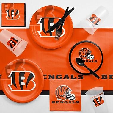 Creative Converting NFL Game Day Party Supplies 81 Piece Dinner Plate Set; Cincinnati Bengals