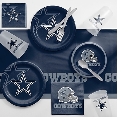 Creative Converting NFL Game Day Party Supplies 81 Piece Dinner Plate Set; Dallas Cowboys WYF078281998349