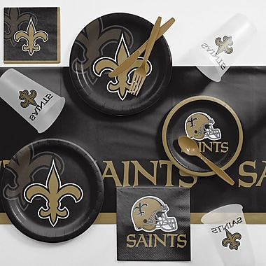 Creative Converting NFL Game Day Party Supplies 81 Piece Dinner Plate Set; New Orleans Saints