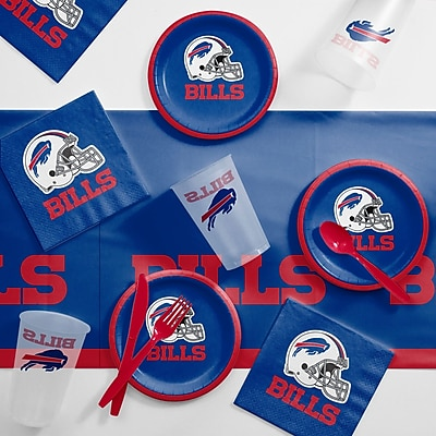 Creative Converting NFL Tailgating 56 Piece Dinner Plate Set; Buffalo Bills WYF078281998376