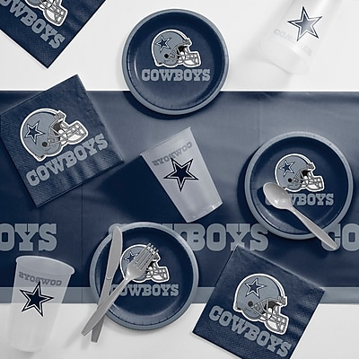 Creative Converting NFL Tailgating 56 Piece Dinner Plate Set; Dallas Cowboys WYF078281998381