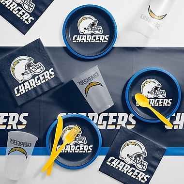 Creative Converting NFL Tailgating 56 Piece Dinner Plate Set; Los Angeles Chargers