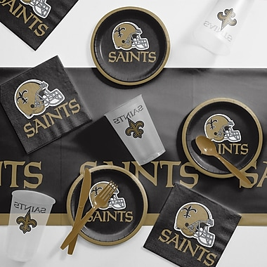 Creative Converting NFL Tailgating 56 Piece Dinner Plate Set; New Orleans Saints
