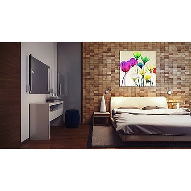 Ebern Designs 'Floral Calm Pop Mate' Graphic Art Print on Wrapped Canvas; 36'' H x 36'' W
