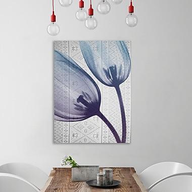 Ebern Designs 'Aubergine Textiles 2' Graphic Art Print on Wrapped Canvas; 32'' H x 24'' W