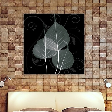 Ebern Designs 'Mint Bo Tree' Graphic Art Print on Wrapped Canvas; 12'' H x 12'' W