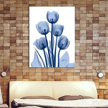 Ebern Designs 'Indigo Spring Tulips 2' Graphic Art Print on Wrapped Canvas; 40'' H x 30'' W