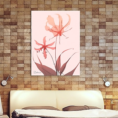 Ebern Designs 'Furiosa Lily' Graphic Art Print on Wrapped Canvas; 20'' H x 15'' W