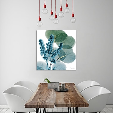 Ebern Designs 'Golden Lilly of Eucalyptus' Graphic Art Print on Wrapped Canvas; 18'' H x 18'' W