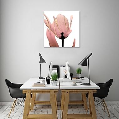Ebern Designs 'Alizarin Splendor 1' Graphic Art Print on Wrapped Canvas; 30'' H x 30'' W