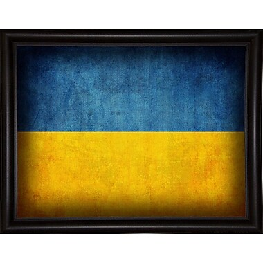 East Urban Home 'Ukraine' Graphic Art Print; Bistro Expresso Framed