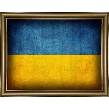 East Urban Home 'Ukraine' Graphic Art Print; Canvas Black Floater Framed