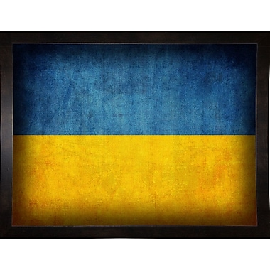 East Urban Home 'Ukraine' Graphic Art Print; Black Medium Framed