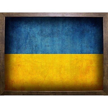 East Urban Home 'Ukraine' Graphic Art Print; Cafe Mocha Framed