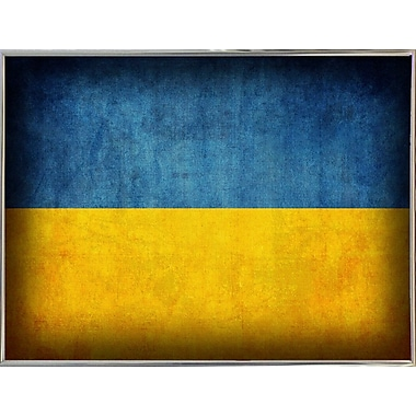 East Urban Home 'Ukraine' Graphic Art Print; Metal Silver Framed