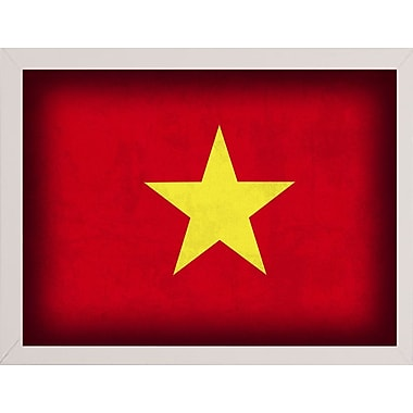 East Urban Home 'Vietnam' Graphic Art Print; White Medium Framed