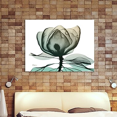 Ebern Designs 'Emerald Magnolia 1' Graphic Art Print on Wrapped Canvas; 24'' H x 32'' W