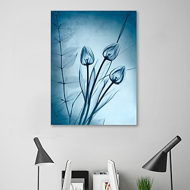 Ebern Designs 'Cerulean Dawn' Graphic Art Print on Wrapped Canvas; 20'' H x 15'' W