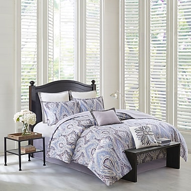echo design Ivy Paisley 100pct Cotton 4 Piece Reversible Comforter Set; California King