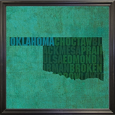East Urban Home 'Oklahoma State Words' Graphic Art Print; Canvas