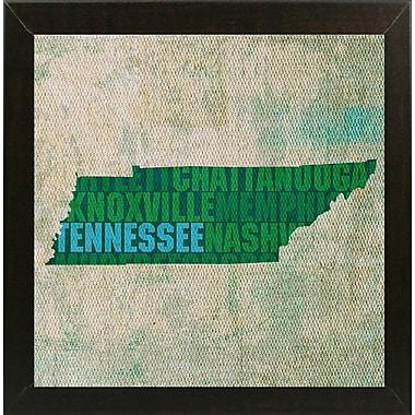 East Urban Home 'Tennessee State Words' Graphic Art Print; Brazilian Walnut Medium Framed