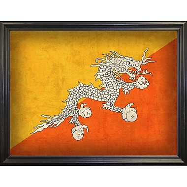 East Urban Home 'Bhutan' Graphic Art Print; Black Grande Framed