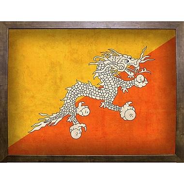 East Urban Home 'Bhutan' Graphic Art Print; Cafe Mocha Framed