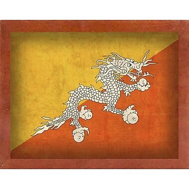 East Urban Home 'Bhutan' Graphic Art Print; Canadian Walnut Medium Framed