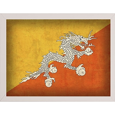 East Urban Home 'Bhutan' Graphic Art Print; White Medium Framed