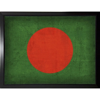 East Urban Home 'Bangledesh' Graphic Art Print; Plastic Black Framed