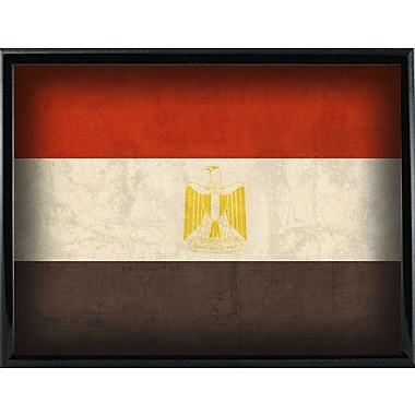 East Urban Home 'Egypt' Graphic Art Print; Metal Black Framed