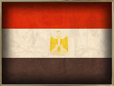 East Urban Home 'Egypt' Graphic Art Print; Metal Gold Framed