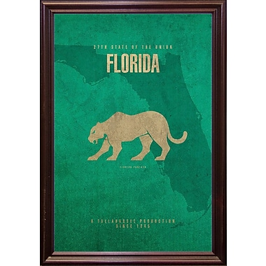 East Urban Home 'Florida Poster' Graphic Art Print; Cherry Grande Framed