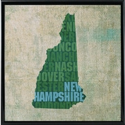 East Urban Home 'New Hampshire State Words' Graphic Art Print; Metal Black Framed