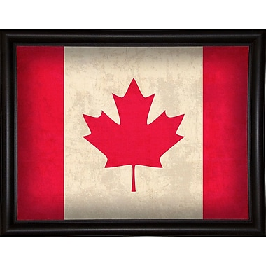 East Urban Home 'Canada' Graphic Art Print; Bistro Expresso Framed