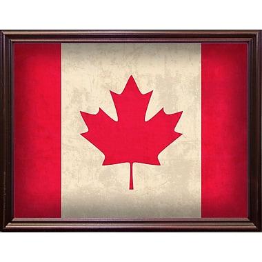 East Urban Home 'Canada' Graphic Art Print; Cherry Grande Framed