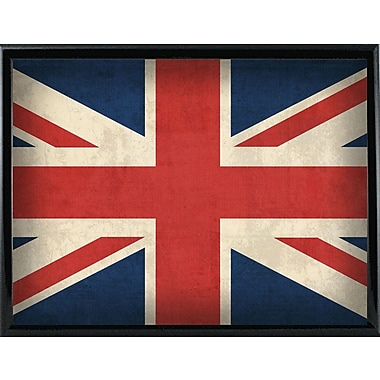 East Urban Home 'United Kingdom' Graphic Art Print; Metal Black Framed