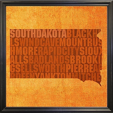 East Urban Home 'South Dakota State Words' Graphic Art Print; Paper