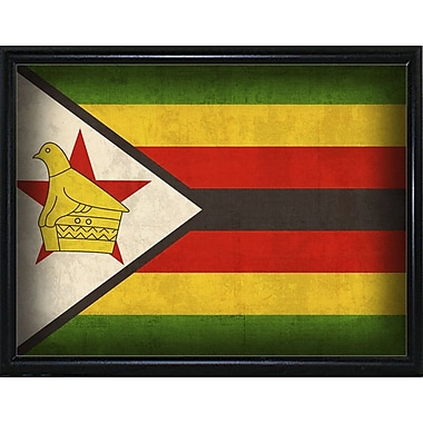 East Urban Home 'Zimbabwe' Graphic Art Print; Wrapped Canvas Floater Framed